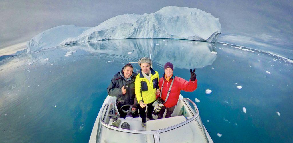 Denis Loctier's Euronews filming crew in Ilulissat, Greenland