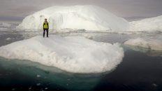 Denis Loctier on an iceberg in Ilulissat, Greenland